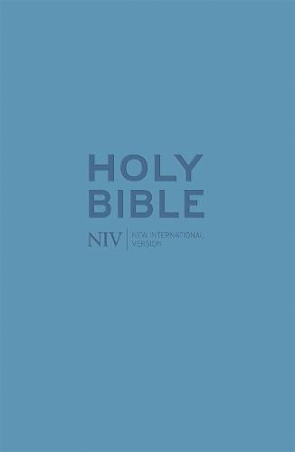 NIV Pocket Cyan Soft-tone Bible with Zip - New International Version (Paperback)