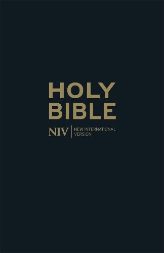 NIV Thinline Black Leather Bible - New International Version (Hardback)