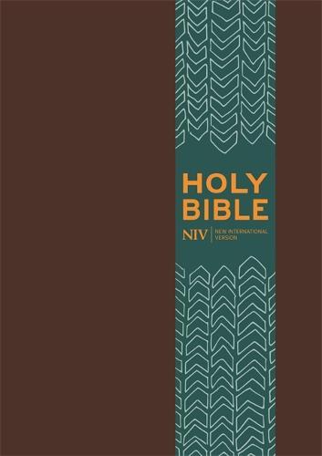 NIV Pocket Brown Imitation Leather Bible - New International Version (Hardback)