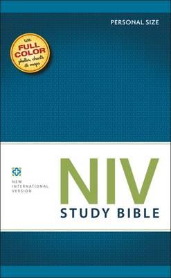 NIV Study Bible Brown/Tan Duo-Tone Personal Size - New International Version (Hardback)