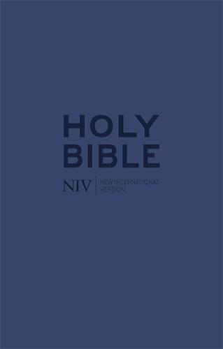 NIV Tiny Navy Soft-tone Bible with Zip - New International Version (Paperback)