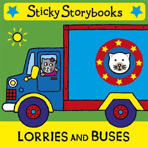 Sticky storybooks: Lorries and Buses: Cloth Book with Strap - Sticky Storybooks (Rag book)
