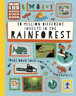 30 Million Different Insects in the Rainforest - The Big Countdown 2 (Hardback)