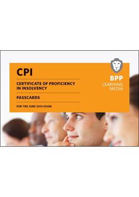 CPI Certificate of Proficiency in Insolvency Passcards: Passcards (Spiral bound)