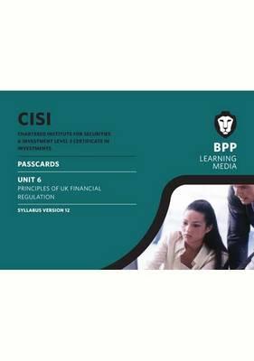 CISI Certificate Unit 6 Passcards Syllabus Version 12: Passcards (Spiral bound)