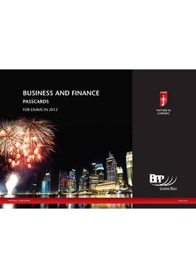 ICAEW - Business and Finance Passcard 2012: Passcards (Spiral bound)