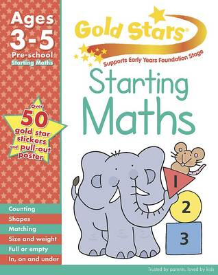 Gold Stars Starting Maths Preschool Workbook (Paperback)