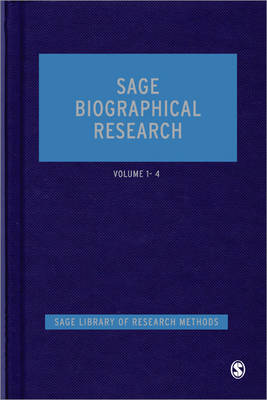 SAGE Biographical Research - SAGE Library of Research Methods (Hardback)