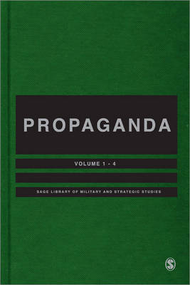 Propaganda - SAGE Library of Military and Strategic Studies (Hardback)
