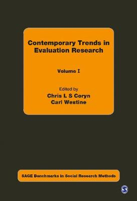 Contemporary Trends in Evaluation Research - Sage Benchmarks in Social Research Methods (Hardback)