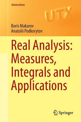 Real Analysis: Measures, Integrals and Applications - Universitext (Paperback)