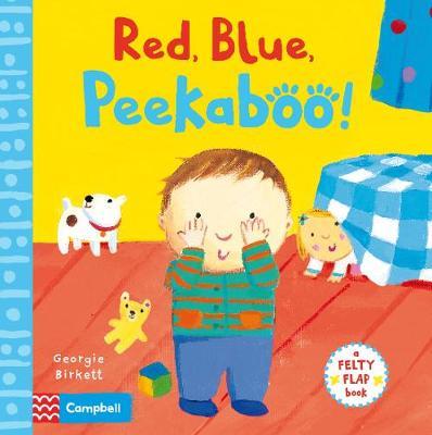 Red, Blue, Peekaboo - Felty Flaps (Board book)