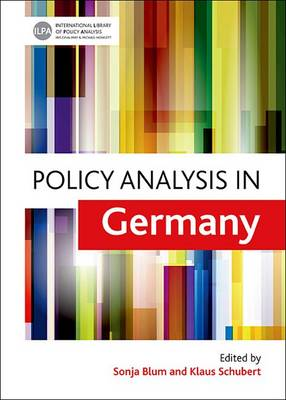 Policy Analysis in Germany - International Library of Policy Analysis 2 (Hardback)