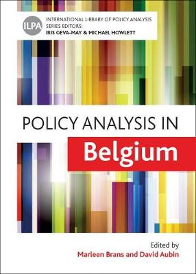 Policy analysis in Belgium - International Library of Policy Analysis 10 (Hardback)