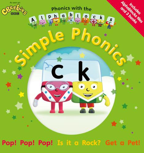 Phonics with the Alphablocks: Simple Phonics for children age 3-5 (Pack of 3 reading books, Alphablocks tiles and Parent Guide) - Phonics with Alphablocks
