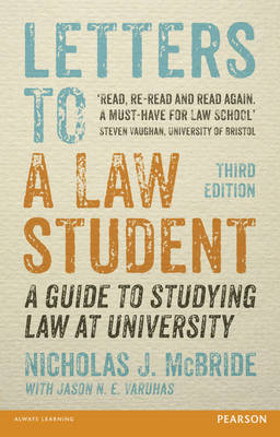 Letters to a Law Student 3rd edn: A guide to studying law at university (Paperback)