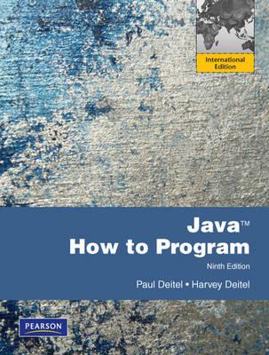 Java: How to Program with MyProgrammingLab: International Edition, 9/E