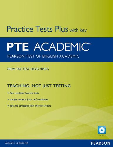 Pearson Test of English Academic Practice Tests Plus and CD-ROM with Key Pack - Practice Tests Plus