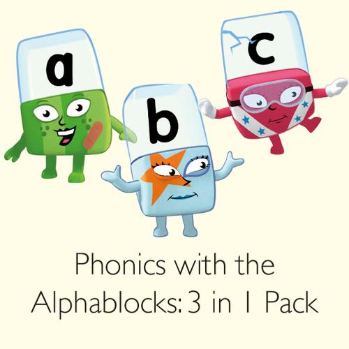 Phonics with the Alphablocks Multi-pack: Starting Phonics, Simple Phonics and Super Phonics for children age 3-5 (Contains 9 reading books, Alphablocks tiles, Alphablocks cards and parent guides) - Phonics with Alphablocks