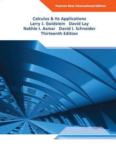 Calculus & Its Applications Pearson New International Edition, plus MyMathLab without eText