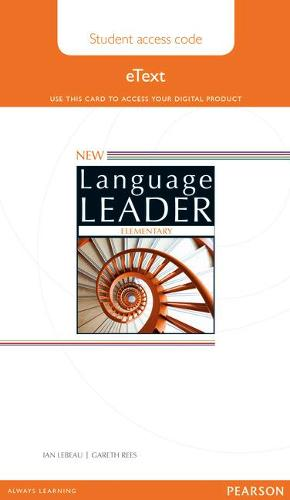 New Language Leader Elementary Student eText Access Card - Language Leader (Digital product license key)