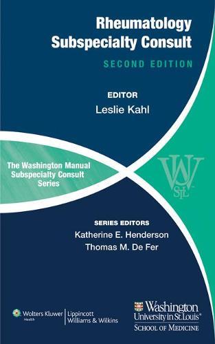 The Washington Manual of Rheumatology Subspecialty Consult (Paperback)