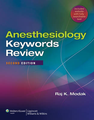Anesthesiology Keywords Review (Paperback)