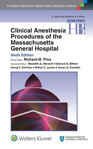 Clinical Anesthesia Procedures of the Massachusetts General Hospital (Paperback)