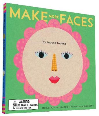 Make More Faces: Doodle and Sticker Book with 52 Faces + 6 Sticker Sheets (Hardback)
