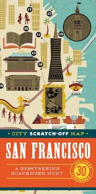 City Scratch-Off Map: San Francisco: A Sightseeing Scavenger Hunt (Paperback)