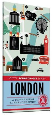 City Scratch-Off Map: London: A Sightseeing Scavenger Hunt (Paperback)