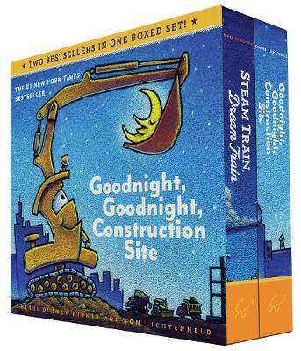 Goodnight, Goodnight, Construction Site and Steam Train, Dream Train Board Books Boxed Set - Steam Train, Dream Train (Board book)