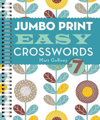 Jumbo Print Easy Crosswords #7 - Large Print Crosswords (Paperback)