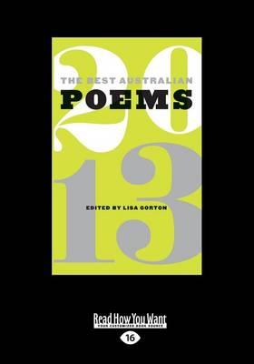 The Best Australian Poems 2013 (Paperback)