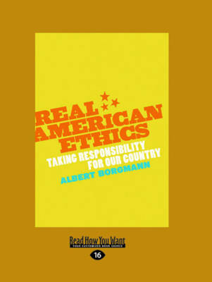 Real American Ethics (Paperback)