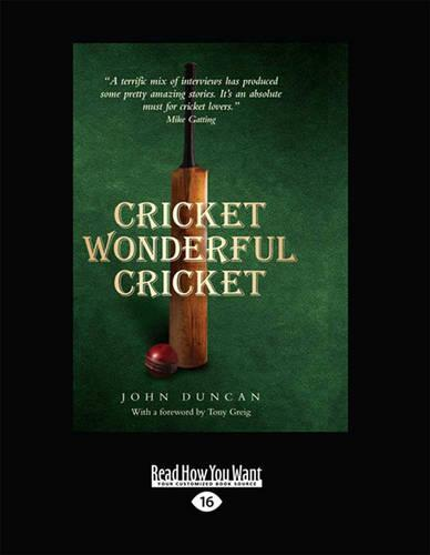 Cricket Wonderful Cricket: Remarkable Cricket by Remarkable People, from Rory Bremner to the Duke of Edinburgh. (Paperback)
