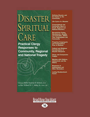 Disaster Spiritual Care: Practical Clergy Responses to Community, Regional and National Tragedy (Paperback)