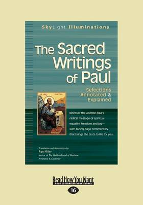 The Sacred Writings of Paul: Selections Annotated & Explained (Paperback)