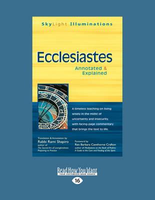 Ecclesiastes: Annotated & Explained (Paperback)
