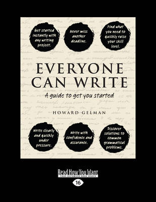 Everyone Can Write: A Guide to Get You Started (Paperback)