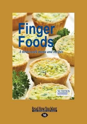 Finger Foods: A Three-week Menu & Recipes (Imperial Edition) (Paperback)