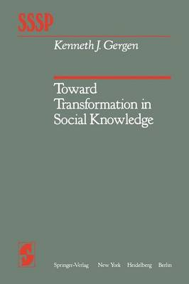 Toward Transformation in Social Knowledge - Springer Series in Social Psychology (Paperback)