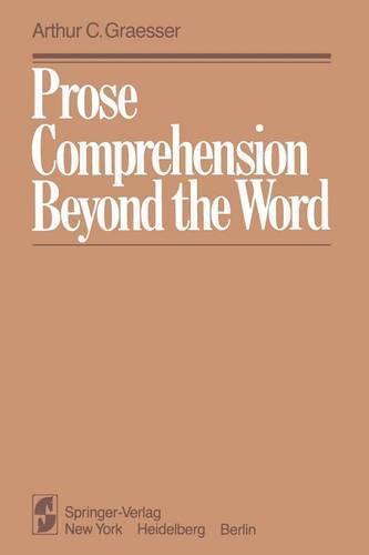 Prose Comprehension Beyond the Word (Paperback)