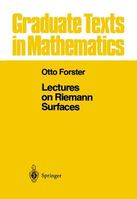 Lectures on Riemann Surfaces - Graduate Texts in Mathematics 81 (Paperback)