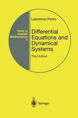 Differential Equations and Dynamical Systems - Texts in Applied Mathematics 7 (Paperback)