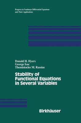 Stability of Functional Equations in Several Variables - Progress in Nonlinear Differential Equations and Their Applications 34 (Paperback)
