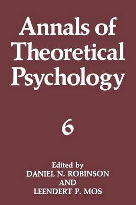 Annals of Theoretical Psychology - Annals of Theoretical Psychology 6 (Paperback)