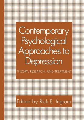 Contemporary Psychological Approaches to Depression: Theory, Research, and Treatment (Paperback)