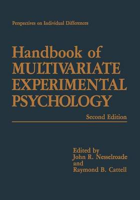 Handbook of Multivariate Experimental Psychology - Perspectives on Individual Differences (Paperback)