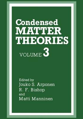Condensed Matter Theories (Paperback)